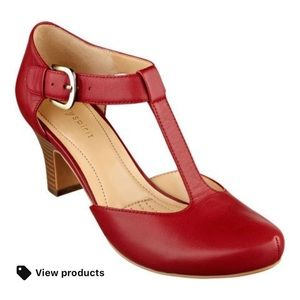 Easy Spirit Red Ramata T Strap Heel